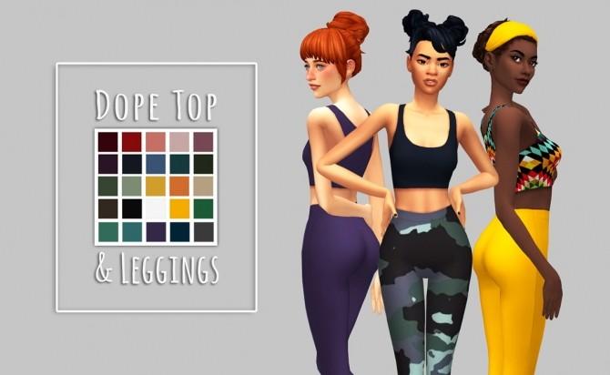 Sims 4 Dope Fitness Set at Saurus Sims