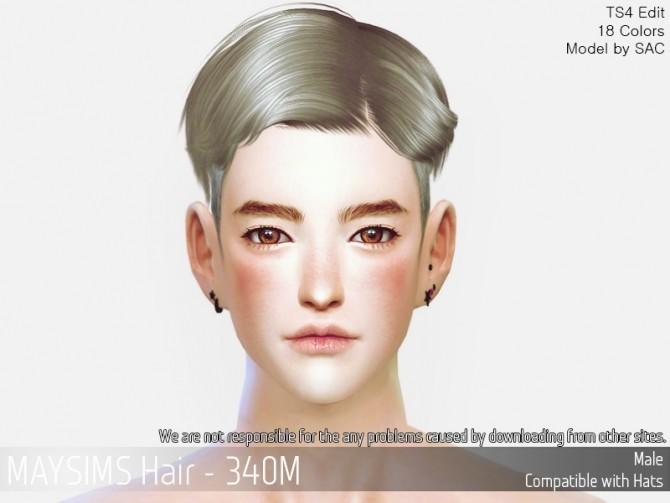 Hair 340M at May Sims image 982 670x503 Sims 4 Updates