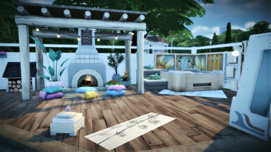 Sims 4 Moon Water house at Agathea k