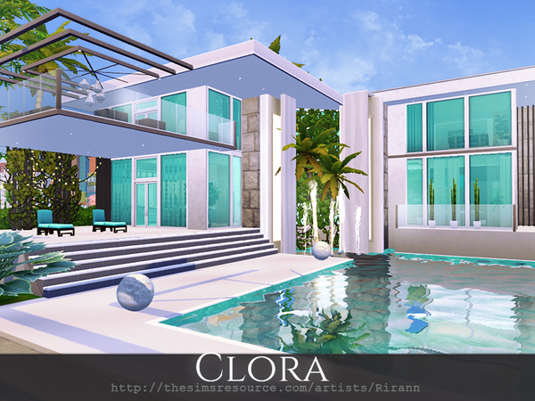 Clora house by Rirann at TSR image 1025 Sims 4 Updates