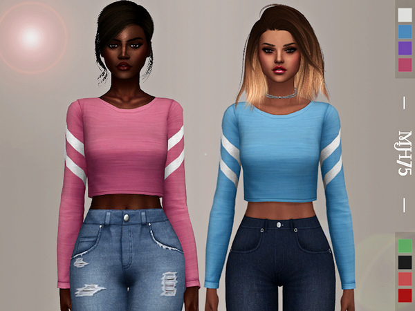 Sims 4 Sharee Top by Margeh 75 at TSR