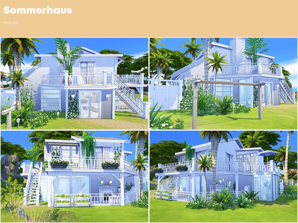 Sims 4 Sommerhaus by Pralinesims at TSR
