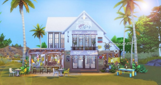 Seafood Bar at Ruby's Home Design image 1053 670x355 Sims 4 Updates