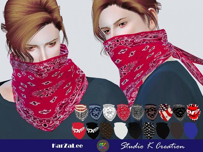 Face Cover Bandana At Studio K Creation 187 Sims 4 Updates