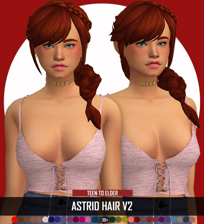 ASTRID HAIR by Thiago Mitchell at REDHEADSIMS image 1074 670x736 Sims 4 Updates