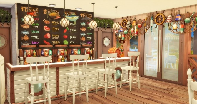 Seafood Bar at Ruby's Home Design image 1083 670x355 Sims 4 Updates