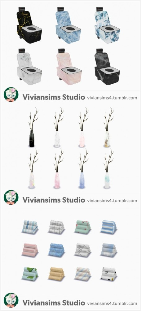 Sims 4 Bathroom Set at Viviansims Studio