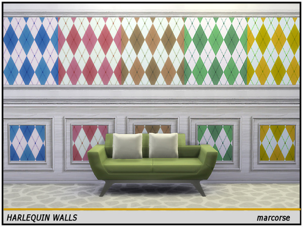 Harlequin Walls by marcorse at TSR image 1107 Sims 4 Updates