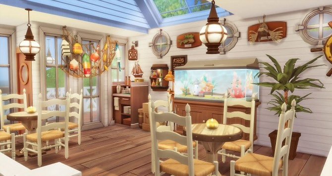 Sims 4 Seafood Bar at Ruby's Home Design
