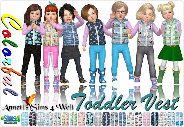 Sims 4 Colorful Toddler Vest at Annett's Sims 4 Welt