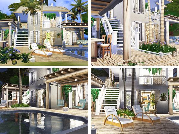 Sims 4 Roseanne cozy beach house by Rirann at TSR