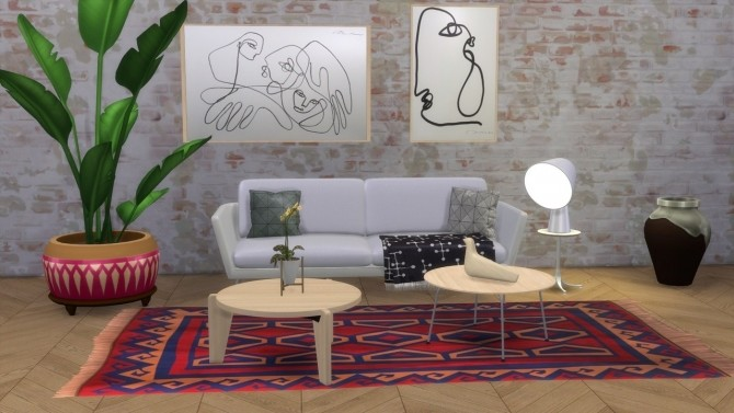 Sims 4 Guéridon Bas round coffee table at Meinkatz Creations