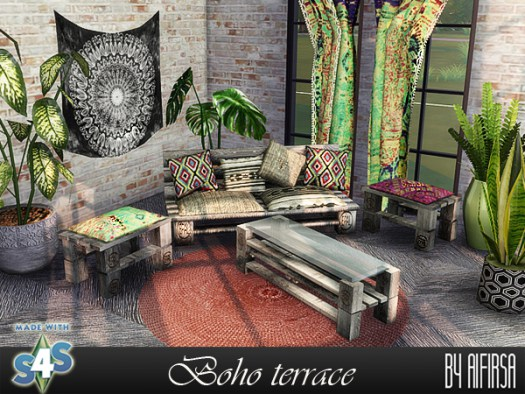 Boho terrace at Aifirsa image 1185 Sims 4 Updates