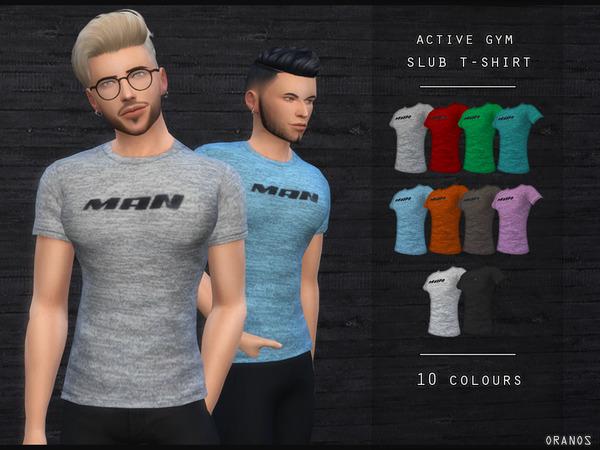 Sims 4 Active Gym Slub T Shirt by OranosTR at TSR
