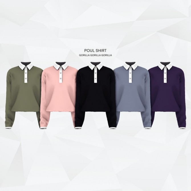 Poul Shirt at Gorilla image 1201 670x670 Sims 4 Updates
