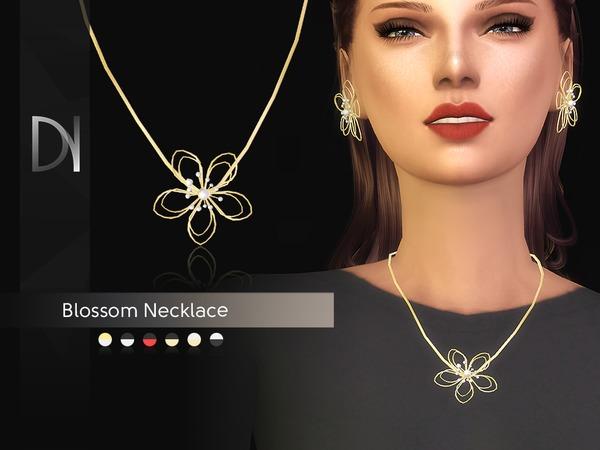 Sims 4 Blossom Necklace by DarkNighTt at TSR