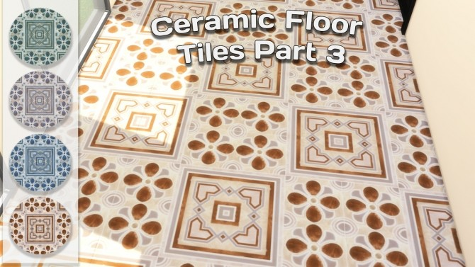 Ceramic Floor Tiles Set at Simming With Mary image 12611 670x377 Sims 4 Updates