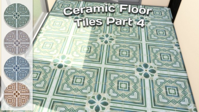 Ceramic Floor Tiles Set at Simming With Mary image 1271 670x377 Sims 4 Updates