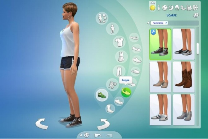 Sims 4 3 high tops by lurania at Mod The Sims