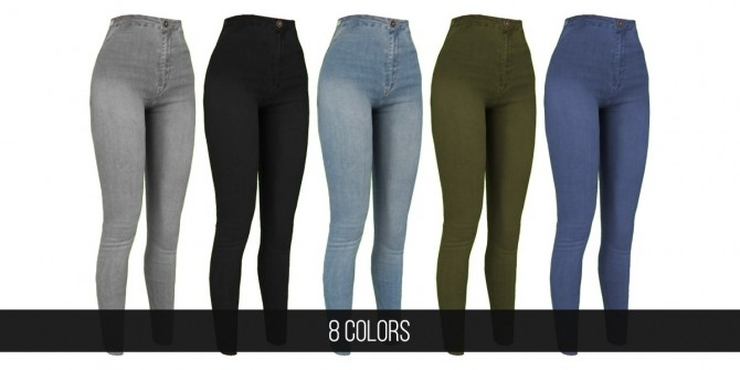 Sims 4 ALIE JEANS at FifthsCreations