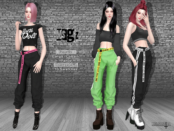 MSGZ Cuffed Cargo Pants by Helsoseira at TSR image 1319 Sims 4 Updates
