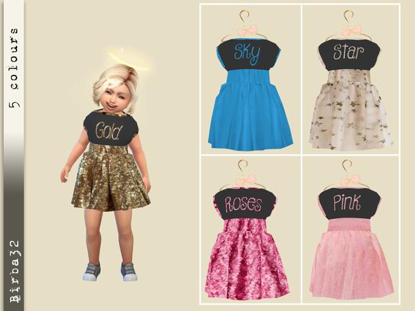 Sims 4 Party Toddler Dress by Birba32 at TSR