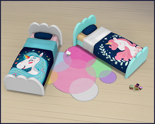 Toddler bed Cloud Unicorn at CappusSims4You image 1336 Sims 4 Updates