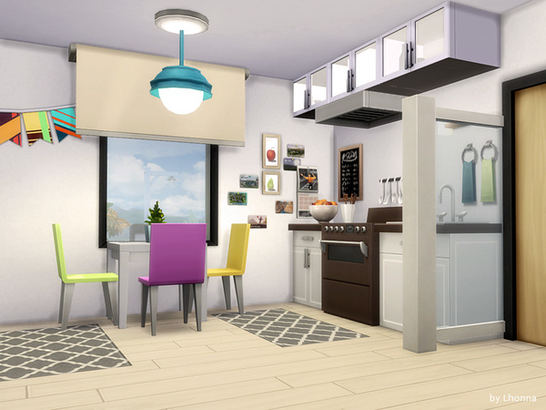 Sims 4 Pastel Beach Camp by Lhonna at TSR