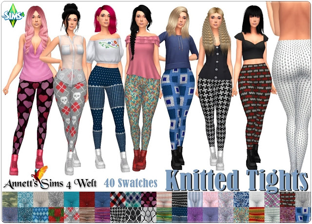 Knitted Tights at Annett's Sims 4 Welt image 1343 Sims 4 Updates