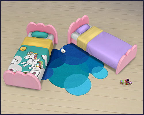Toddler bed Cloud Unicorn at CappusSims4You image 1345 Sims 4 Updates