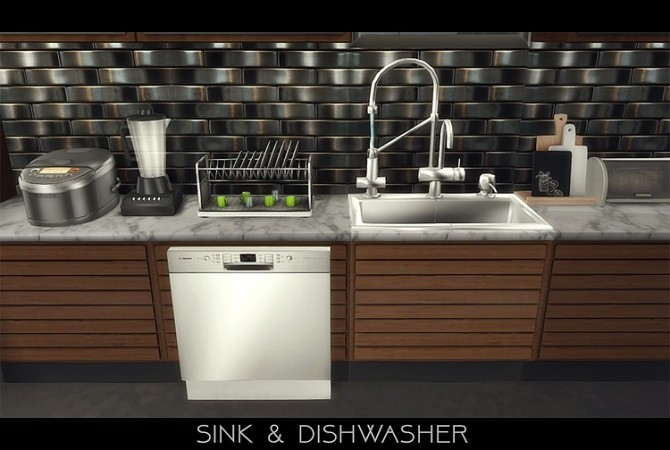 Stainless Steel Appliances + Kitchen Backsplash by daer0n at Blooming Rosy image 135 670x450 Sims 4 Updates