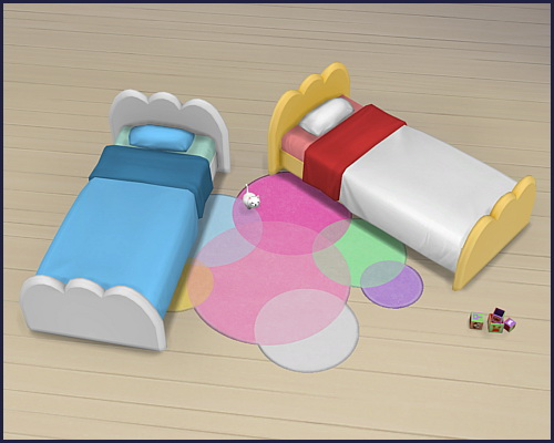 Toddler bed Cloud Unicorn at CappusSims4You image 1355 Sims 4 Updates
