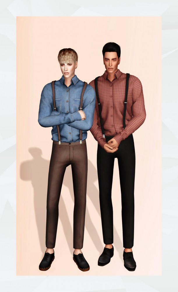 Sims 4 Shirt with Suspender at Gorilla