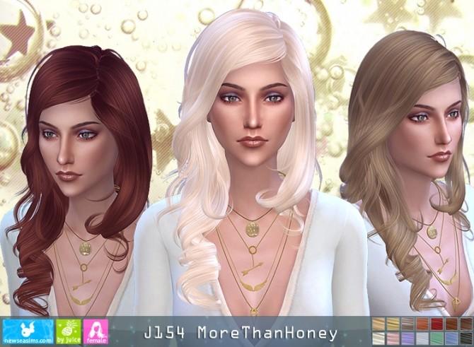 Sims 4 J159 MoreThanHoney hair (P) at Newsea Sims 4