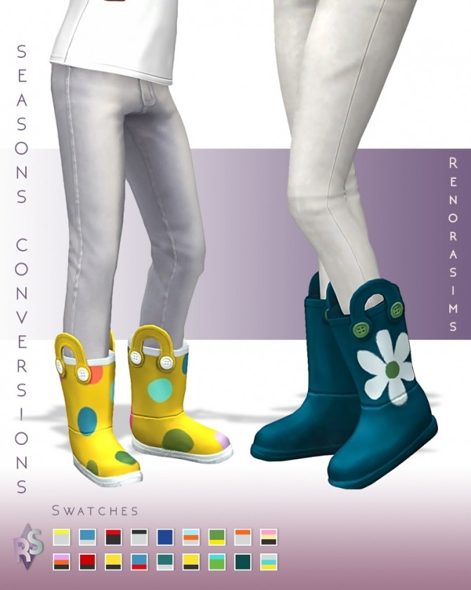 Rain boots conversion at RENORASIMS image 140 670x838 Sims 4 Updates