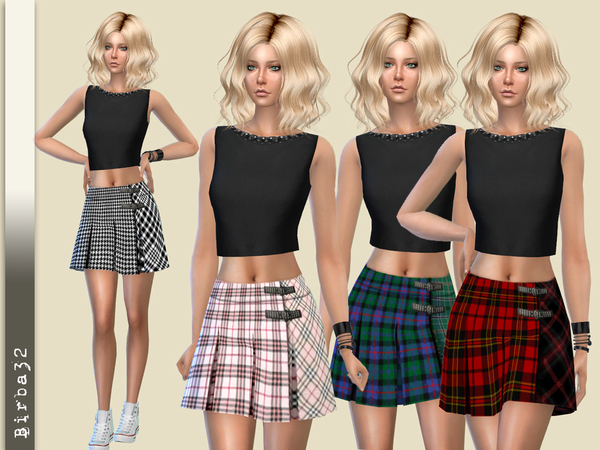 Tartan Skirt by Birba32 at TSR image 1423 Sims 4 Updates