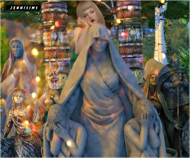 Statues, Totem Decorative 6 Items at Jenni Sims image 1431 Sims 4 Updates