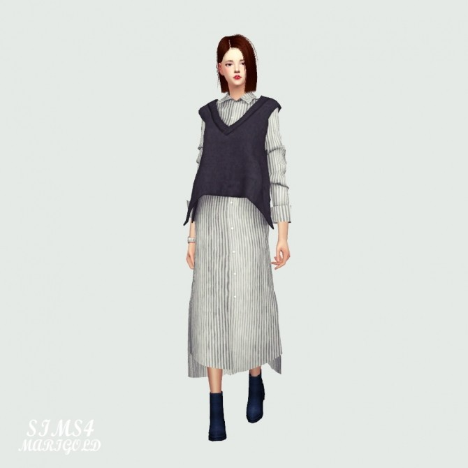 Long Shirt With Vest at Marigold image 1433 670x670 Sims 4 Updates