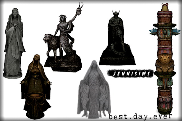 Statues, Totem Decorative 6 Items at Jenni Sims image 1441 Sims 4 Updates