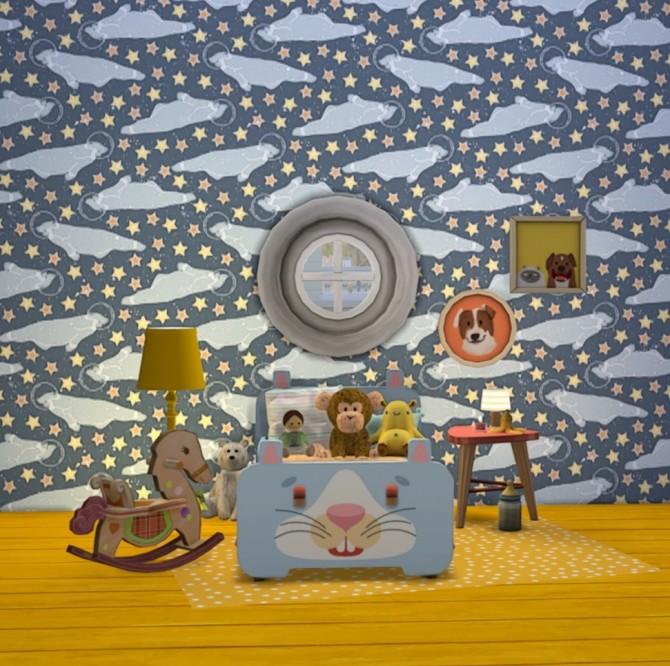 Sims 4 6 wallpapers using Julia Dreams' patterns set 5 at Miss Ruby Bird
