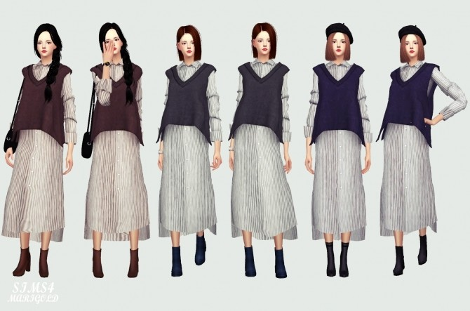 Long Shirt With Vest at Marigold image 1473 670x443 Sims 4 Updates