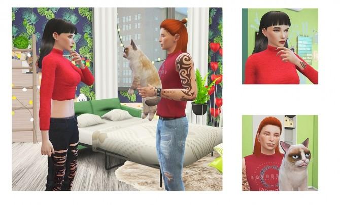 Sims 4 Secret present poses at Rethdis love