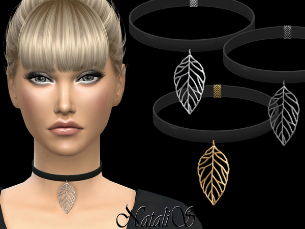 Filigree leaves choker by NataliS at TSR image 1513 Sims 4 Updates