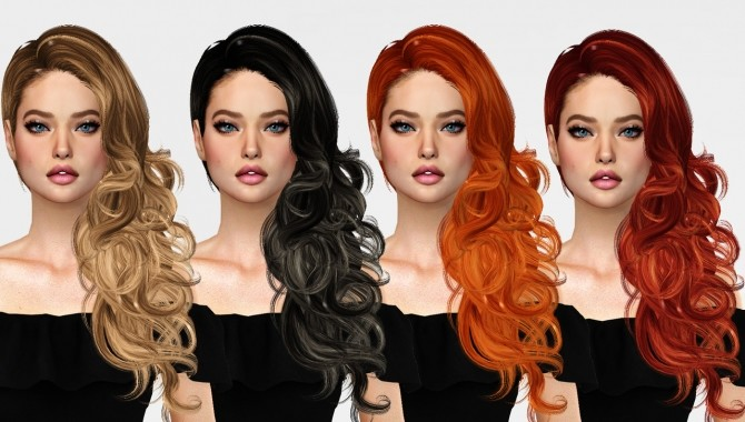 Sims 4 BLONDESIMS Jennisims Newsea BitterSweet hair retexture at REDHEADSIMS