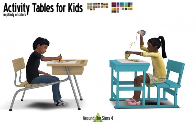 Activity Tables by Sandy at Around the Sims 4 image 1601 670x419 Sims 4 Updates