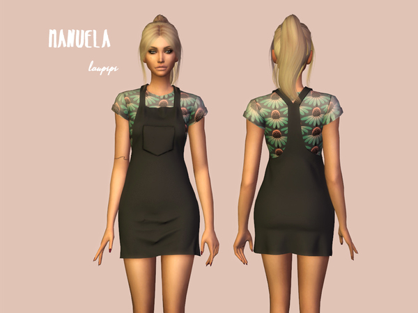 Sims 4 Manuela outfit by laupipi at TSR