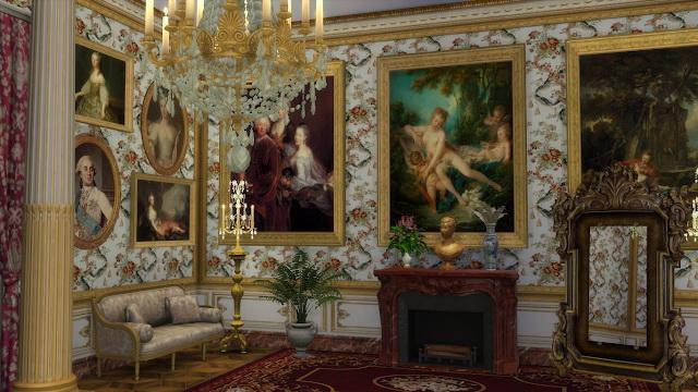 Louis XVI Bouqet Wall Set at Regal Sims image 1633 Sims 4 Updates