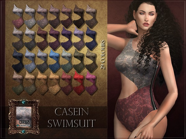 Sims 4 Casein Swimsuit by RemusSirion at TSR