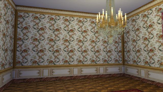 Louis XVI Bouqet Wall Set at Regal Sims image 1643 Sims 4 Updates