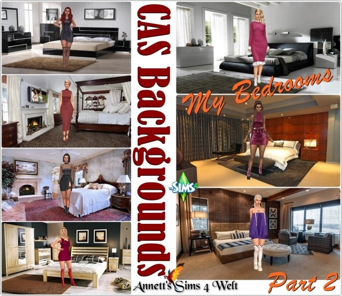 CAS Backgrounds My Bedrooms Part 2 at Annett's Sims 4 Welt image 1662 670x579 Sims 4 Updates